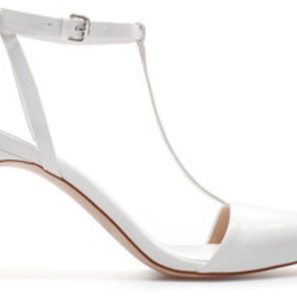 ZARA white pointy toe strappy heels